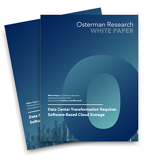 White paper thumbnail: Osterman Research - Data Center Transformation Requires Software-Based Cloud Storage